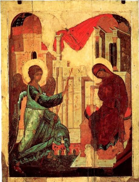 Благовещение. Андрей Рублев. 1408