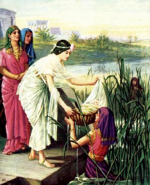 Дочь фараона принимает младенца Моисея