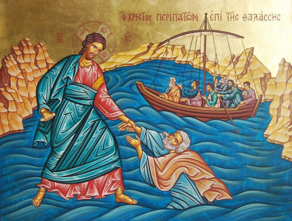 христос в лодке с апостолами